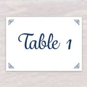 Hydrangea & Rose - Table Number